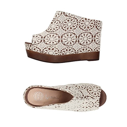 Jeffrey Campbell Virgo Crochet, Zoccoli e sabot, Donna White