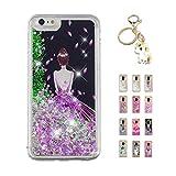 Kawaii-Shop Coque iPhone XS Max Glitter Liquide, Cute Ballerine TPU Silicone Case...