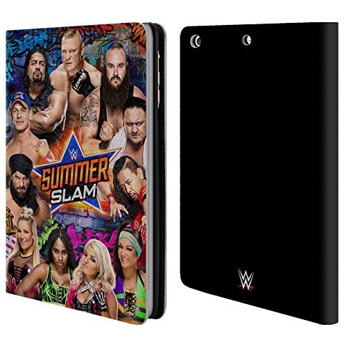 Offizielle WWE Gruppe 2017 Summerslam Brieftasche Handyhülle aus Leder für Apple iPad mini 1 / 2 / 3