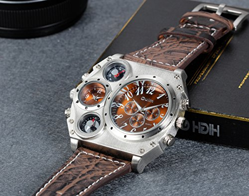 76958b476 Men's Watches - Lancardo Analog Dark Brown Leather Strap Four Sub ...