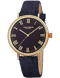 Akribos XXIV AK1081 - Reloj de Pulsera para Mujer (Correa de Piel, números Romanos