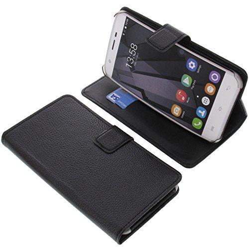 foto-kontor Tasche für Oukitel U7 Plus Book Style schwarz Kreditkarte Schutz Hülle Buch