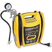 VARO POWX1705 elektrischer Druckluft Kompressor tragbar, 1.100 Watt (1,5 PS) max. 8 bar, inkl. Zubehör Anschluß 230 Volt