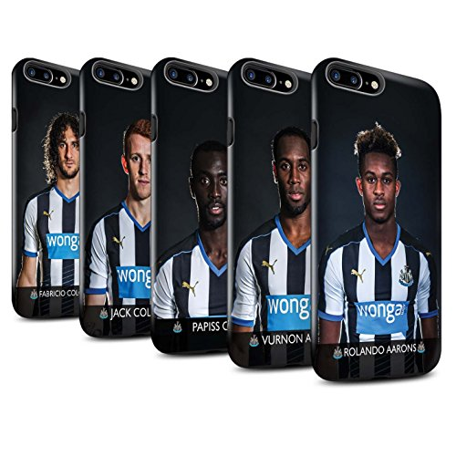 Offiziell Newcastle United FC Hülle / Glanz Harten Stoßfest Case für Apple iPhone 7 Plus / Rivière Muster / NUFC Fussballspieler 15/16 Kollektion Pack 25pcs