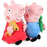 #1: Party Propz Cute Peppa Pig Plush Soft Toy for Kids 29 cm Set of 2 Pcs
