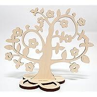 Albero portagioie in legno/Betulla, colore: naturale, un