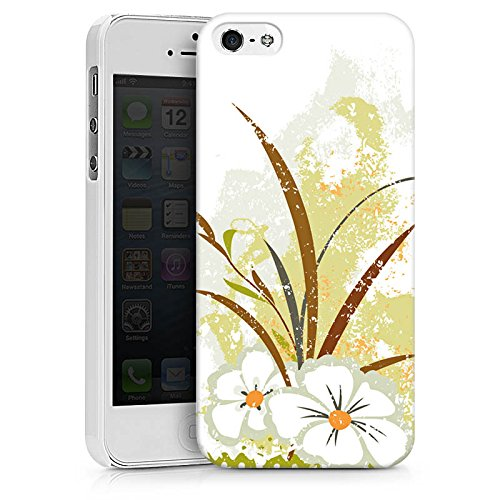 Apple iPhone X Silikon Hülle Case Schutzhülle Flower Grün Muster Hard Case weiß