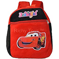 Richy Toys Kids Plush Soft Toys Backpack Cartoon Toy Children's Gifts Boy/Girl/Baby/Student Bags Decor School Bag For Kids (Car)