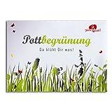 Geschenkidee Praktische Ideen zu Ostern 2014 - Pottbegrünung Blumensamen - die Pflanzensamen aus dem Pott für den Pott