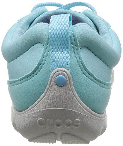 crocs DtBusyDayLceUpW Damen Durchgängies Plateau Ballerinas Blau (Ice Blue/Pearl White)