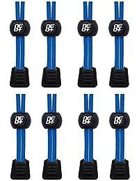 Bloqueos de cordones para correr y triatlón pack de 4, THE BLUE PACK, XL