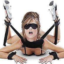 Cksohot® Set Bondage Manette SM BDSM per Coppie, Maschi e Femmine - Nero