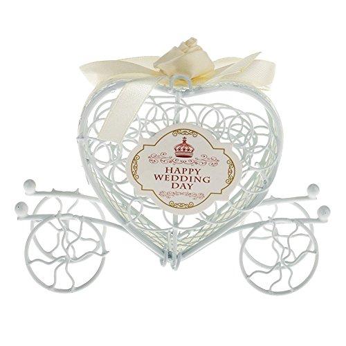 Naked Auto Eisen Candy Box handgefertigt Zucker dekorativer Geschenkverpackung Hochzeit Candy Box Vier Rad Creative Geschenk-Box, Eisen, champagnerfarben, 10*12*3.5cm (Zucker Candy Kostüm)