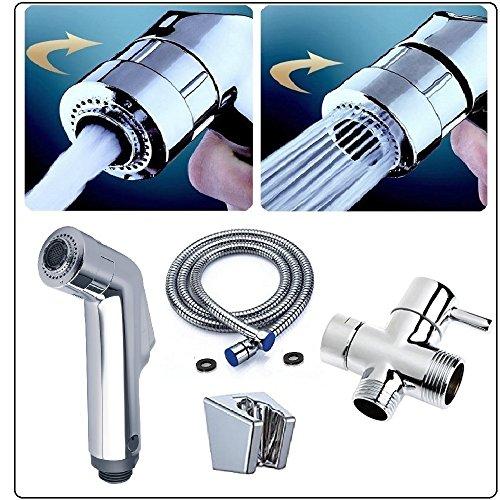 Handbrause fur wc und toiletts mit 3-Wege-Ventil - Handbrause Dusche bidet sprayer set - Doppel Düsen