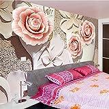 Carta da parati personalizzata della foto Carta da parati murale modellata 3D della carta da parati della pittura della parete del fondo del fiore di Minimalist 3D minimalista moderno, 300 * 210cm