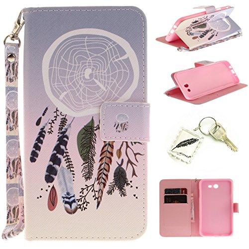 Preisvergleich Produktbild Silikonsoftshell PU Hülle für Samsung Galaxy J7 (2016) (5,49 Zoll) Tasche Schutz Hülle Case Cover Etui Strass Schutz schutzhülle Bumper Schale Silicone case+Exquisite key chain X1) #KE (3)