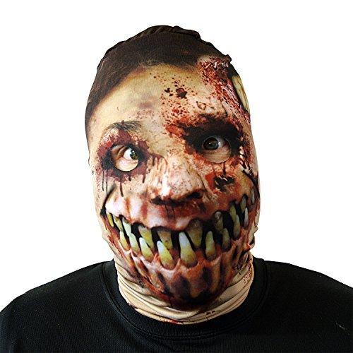 Monster Mund Zombie Gesichtsmaske Halloween Kostüm Erwachsene unheimlich Lycra Horror