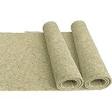 Nager-Teppich aus 100 % Hanf, 100 x 40 cm 5 mm dick ,2er Pack, (EUR 6,48 je Stück), Nagermatte geeignet als Käfig Bodenbedeckung z.B. für Kaninchen, Meerschweinchen, Hamster, Degus, Ratten und andere Nagetiere.