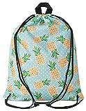 Aminata Kids - Kinder-Turnbeutel für Mädchen und Damen mit Pool Obst Sprüche Ananas...