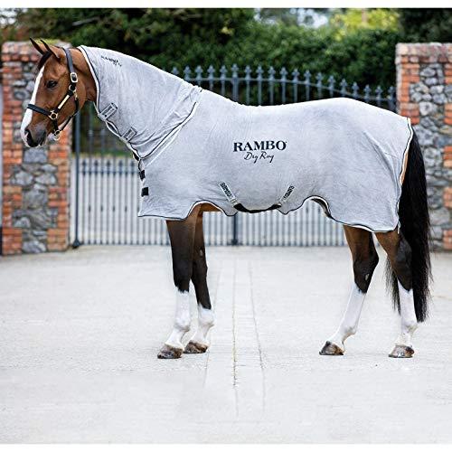 Horseware Rambo Dry Rug Abschwitzdecke mit Halsteil grau S