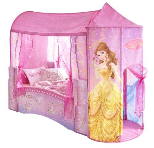 Worlds Apart 864219 Cama clásica para niña, diseño de princesas Disney, con forma de castillo, madera MDF, color rosa, 142,50 x 76,50 x 190 cm