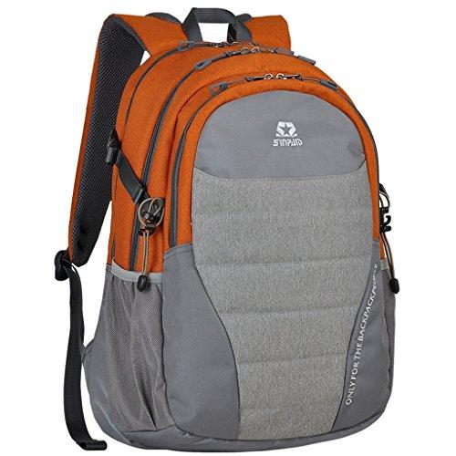 Womens Backpacker Rucksack (XSY 30L Reiserucksack Wanderrucksack Outdoor Unisex Rucksäcke Reisen Rucksack Damen Herren für Sport und Camping Orange)
