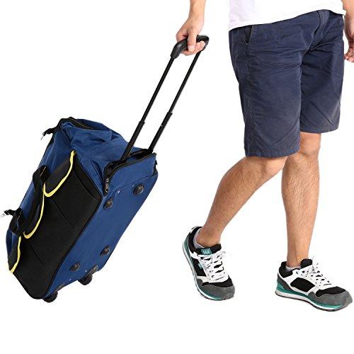 Voluker Werkzeugkoffer Werkzeugtrolley Werkzeugtasche 58x30x29cm Aufbewahrungstaschen Transporttasche mit Doppel-Reißverschluss und Klettverschluss