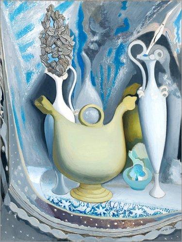 Posterlounge Forex 120 x 160 cm: Gris et Blanc de Joseph Stella