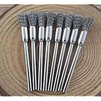 DEKPRO - Juego de 3 cepillos de limpieza de acero inoxidable para bobinas de vapor, atomizador de alambre RDA