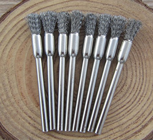 DEKPRO - Set of 3 stainless steel cleaning brushes for steam coils, RDA wire atomizer, 3PCS Set, 3