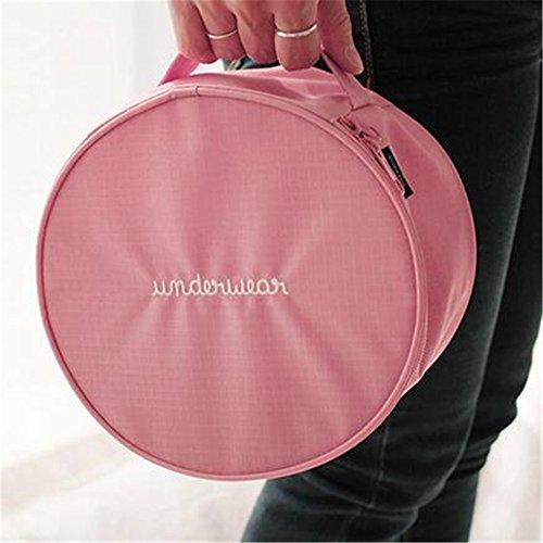 GUJJ Round Trip Unterwäsche BH weiblichen Zylinder Eitelkeit Paket Taschen Paket organisieren, Rosa