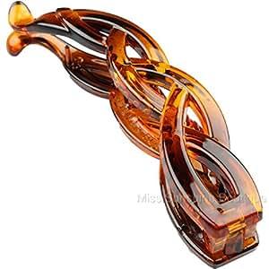 Hair Accessories Banana Clip Hair Clip Hair Comb Fish Clip Black Or Tort Fancy Banana Clip Slide[Tortoise Shell 1]