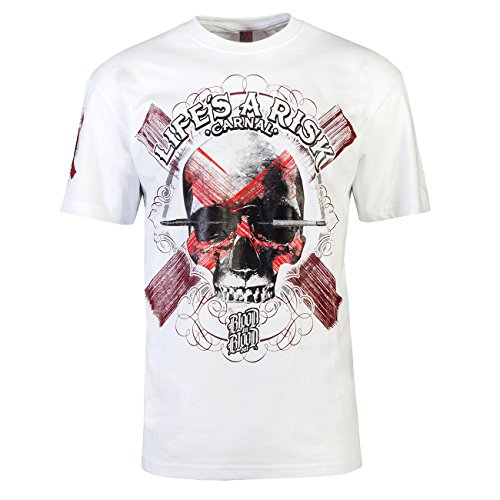 Blood-skull-t-shirt (Art Skull White Shirt L)