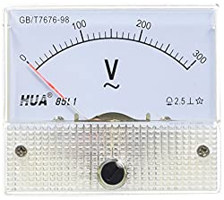 Ac 0–300V Analog Nadel Rectangle Analog Panel Meter Voltmeter