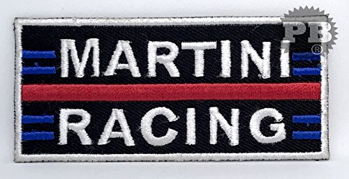 # 57 Martini Racing Biker Jacke Sew Bügeln gesticktes Patch (Martini-bügel)