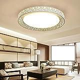HomeLava Acryl Weiß Led Deckenleuchte Durchmesser 60cm Modern Nest Design im Wohnzimmer, (Warmweiß)