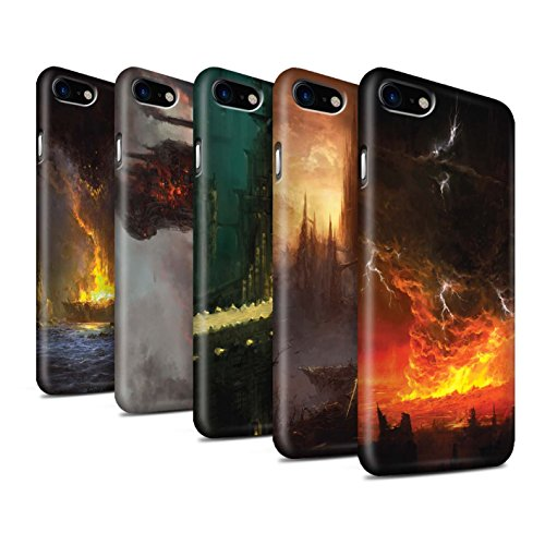 Offiziell Chris Cold Hülle / Matte Snap-On Case für Apple iPhone 7 / Industrie Maschine Muster / Gefallene Erde Kollektion Pack 8pcs
