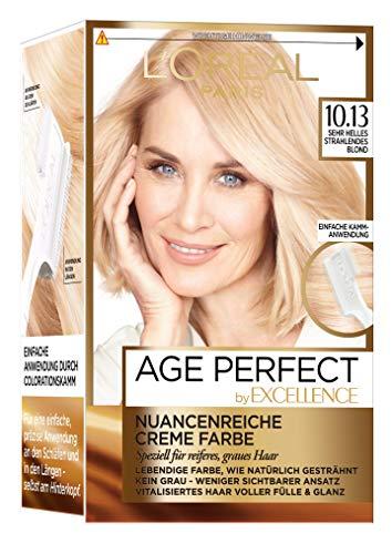 L\'Oréal Paris Excellence Age Perfect Coloration, 10.13 sehr helles strahlendes blond, 3er Pack (3 x 1 Stück)