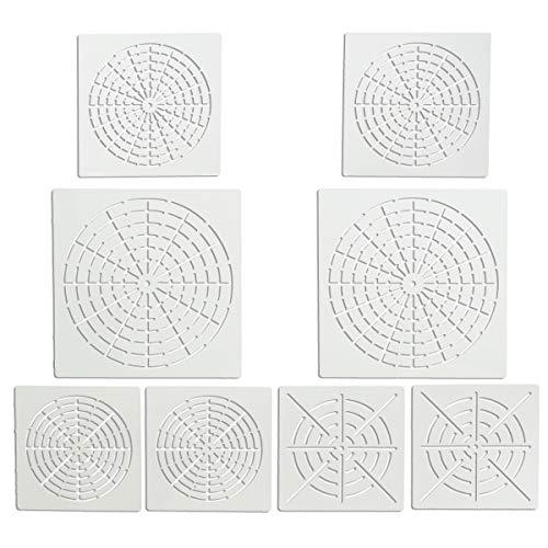 YXJD 8pcs Mandala Schablone Schießscheibe Punktierung Werkzeug DIY Vorlage Muster für Mandala Art Leinwand Malerei
