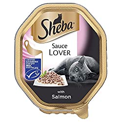 Sheba Sauce Lover Cat Tray with Salmon, 85 g