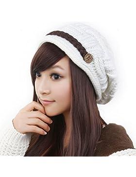 TININNA Inverno Caldo lavorato a maglia knit uncinetto Beanie Cappello intrecciato Berretto Beret Cappello per...