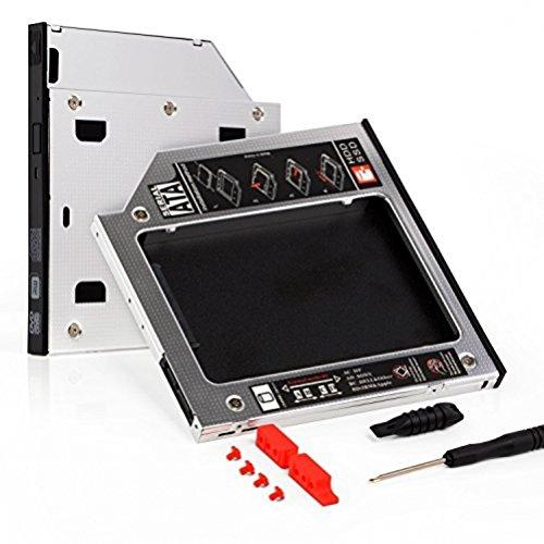 Neuftech 2nd 2.5'' HDD SSD Caddy Sata 3.0 Festplattenrahmen Adapter für alle Notebook mit 9,5 mm SATA Laufwerkschacht für HP ASUS Acer Dell Lenovo Laptops