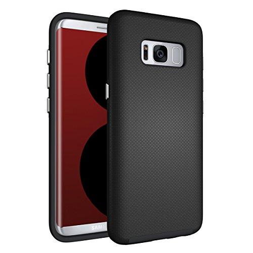 Slynmax Coque Galaxy S8 Noir,Coque Galaxy S8 [ Un Stylo Tactile], Mode TPU Slim Bumper Souple Silicone Etui de Flexible Soft Case Cas Couverture Anti Choc Ultra Mince Légère Coque pour Galaxy S8