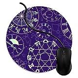 Tapis de Souris Gaming Mousepad Calendriers du Zodiaque Base en Caoutchouc Antidérapant Surface Spéciale Texturée résistant à Usure 1V1505