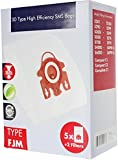 SPARES2GO 3D Type FJM Hyclean Bags for Miele Vacuum Cleaner (5 Bags + Micro Air Filters)