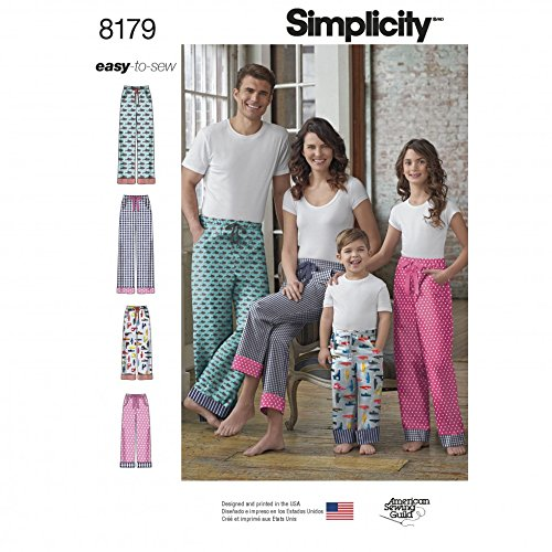 Simplicity Familie Easy Schnittmuster: 8179 Casual Lounge Pants & Pyjama Pant