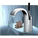 Robinets de salle de bains robinet d'évier à poignée unique