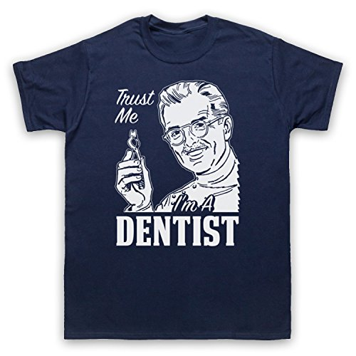 Trust Me I'm A Dentist Funny Work Slogan Herren T-Shirt Ultramarinblau