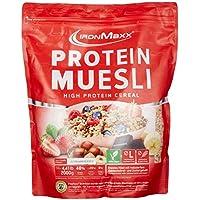 IronMaxx Protein Müsli Erdbeere – Veganes Fitness Müsli laktosefrei und glutenfrei – Eiweiß Müsli mit Erdbeergeschmack – 1 x 2 kg