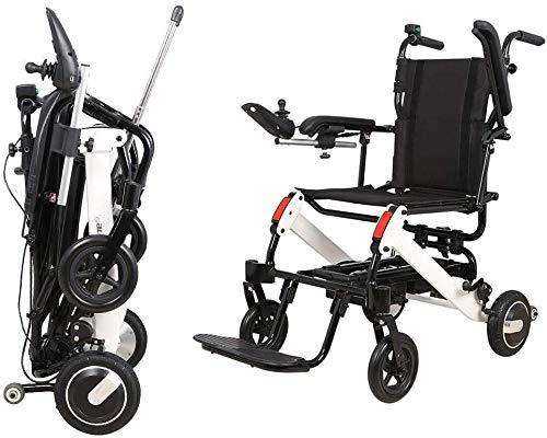 MJ-Brand Silla de Ruedas eléctrica - Silla de Ruedas eléctrica para discapacitados...